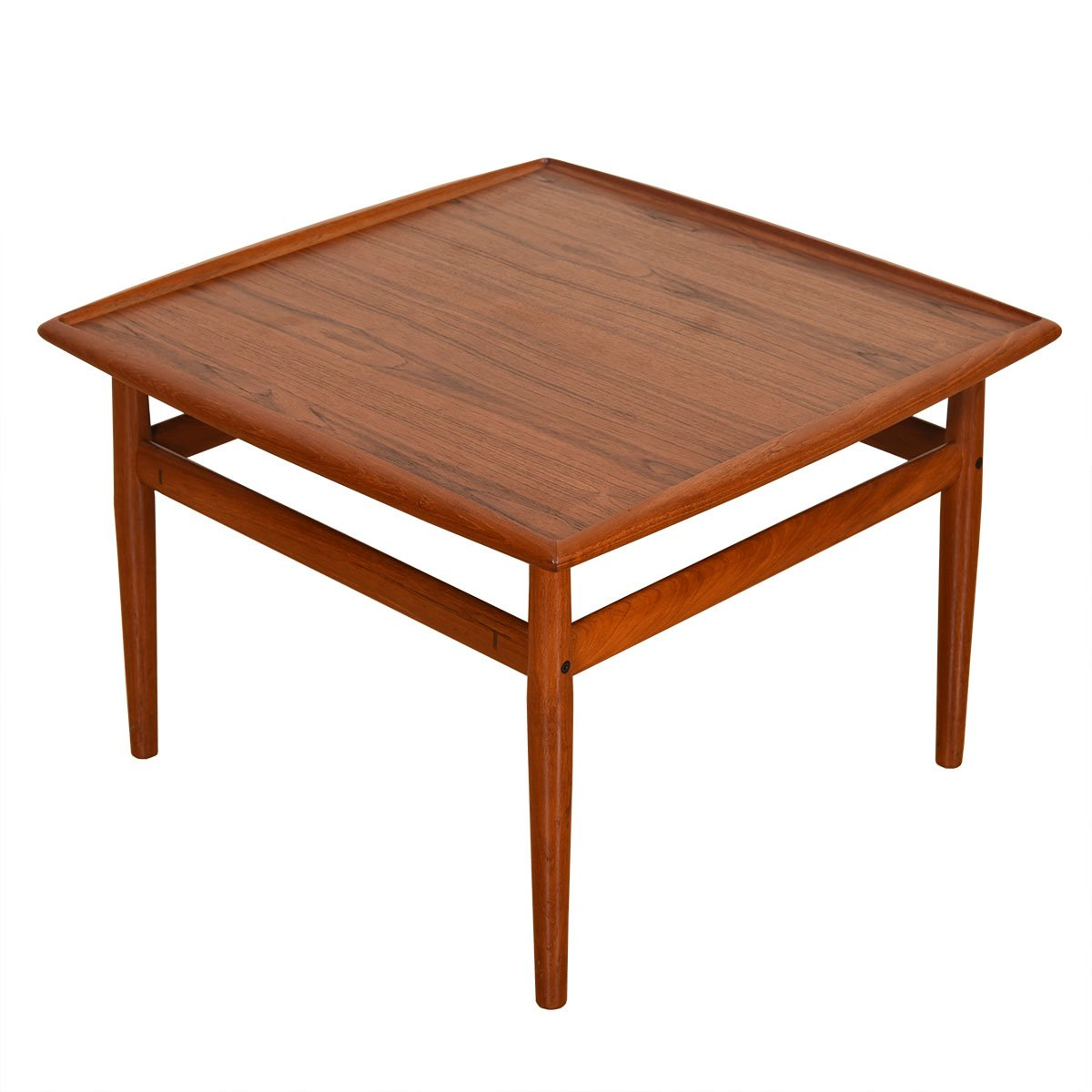 Raised Lip Edge 28″ Square Coffee Table by Grete Jalk in Teak