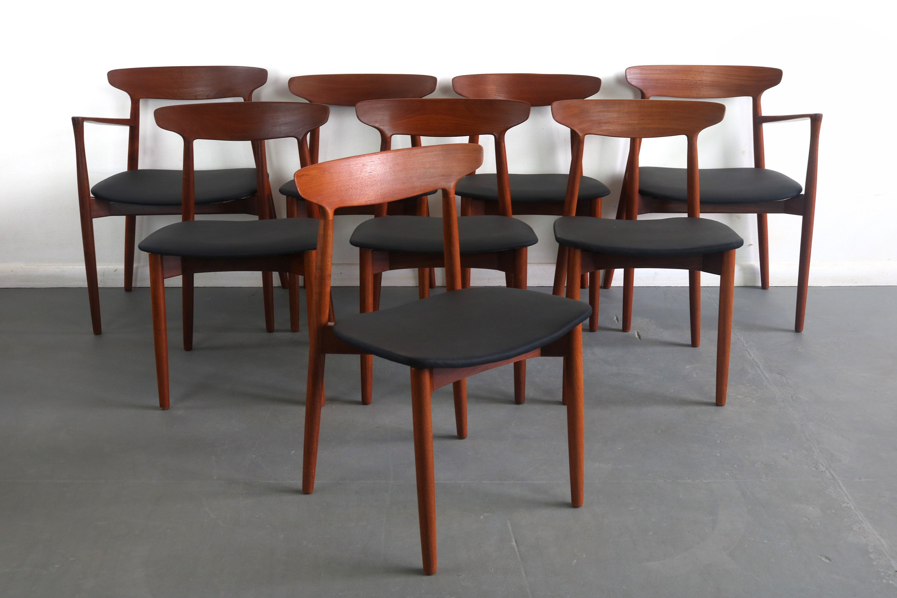 Harry Ostergaard for Randers Teak Dining Chairs