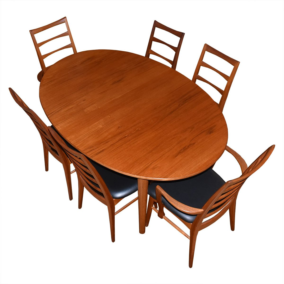 John Stuart Danish Modern Teak Expanding Oval Dining Table