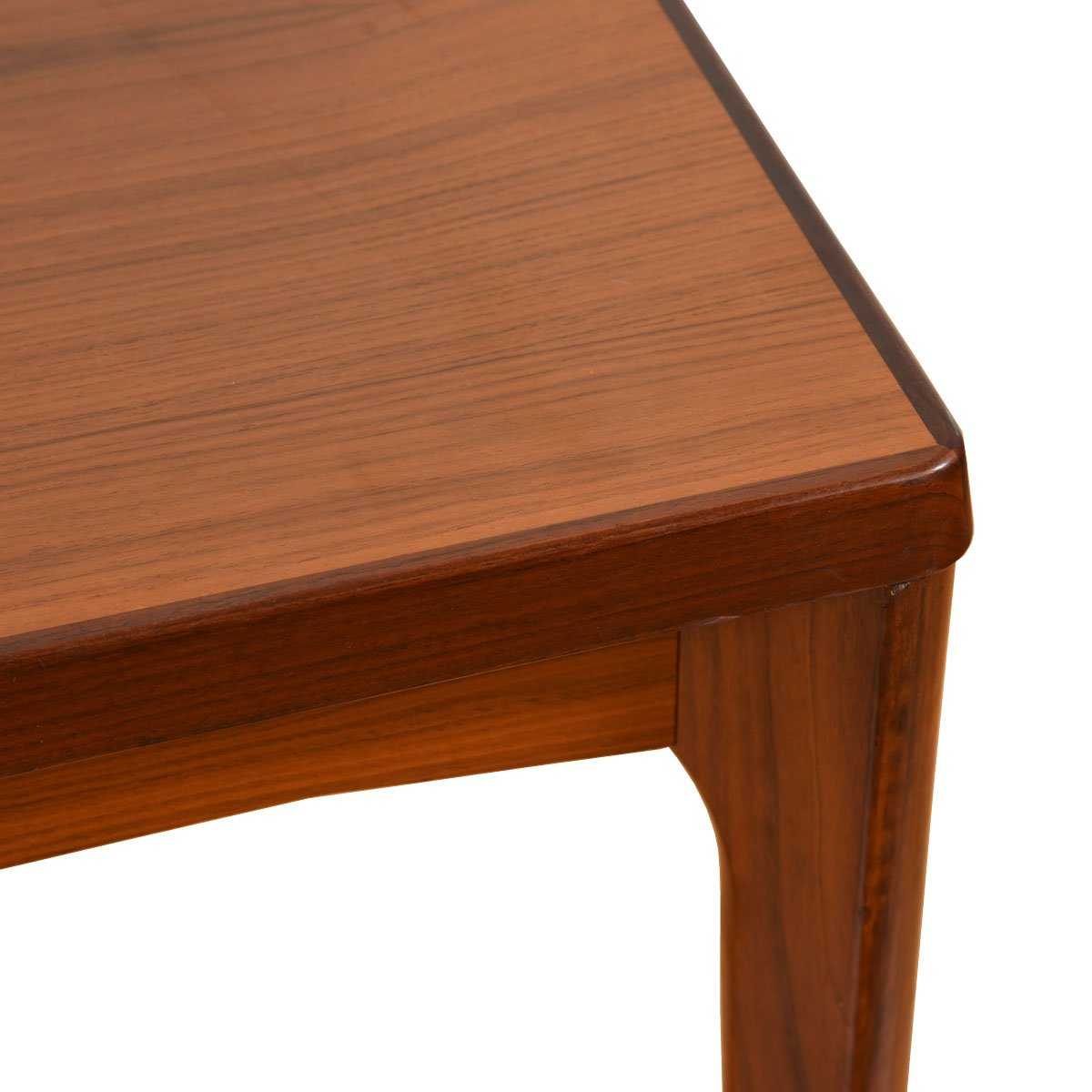 Apartment Sized Danish Modern Two-Tone Expanding Dining Table