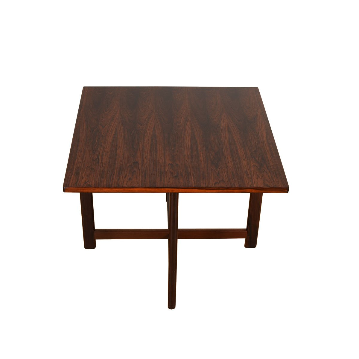 Danish Modern Rosewood Square Accent Table