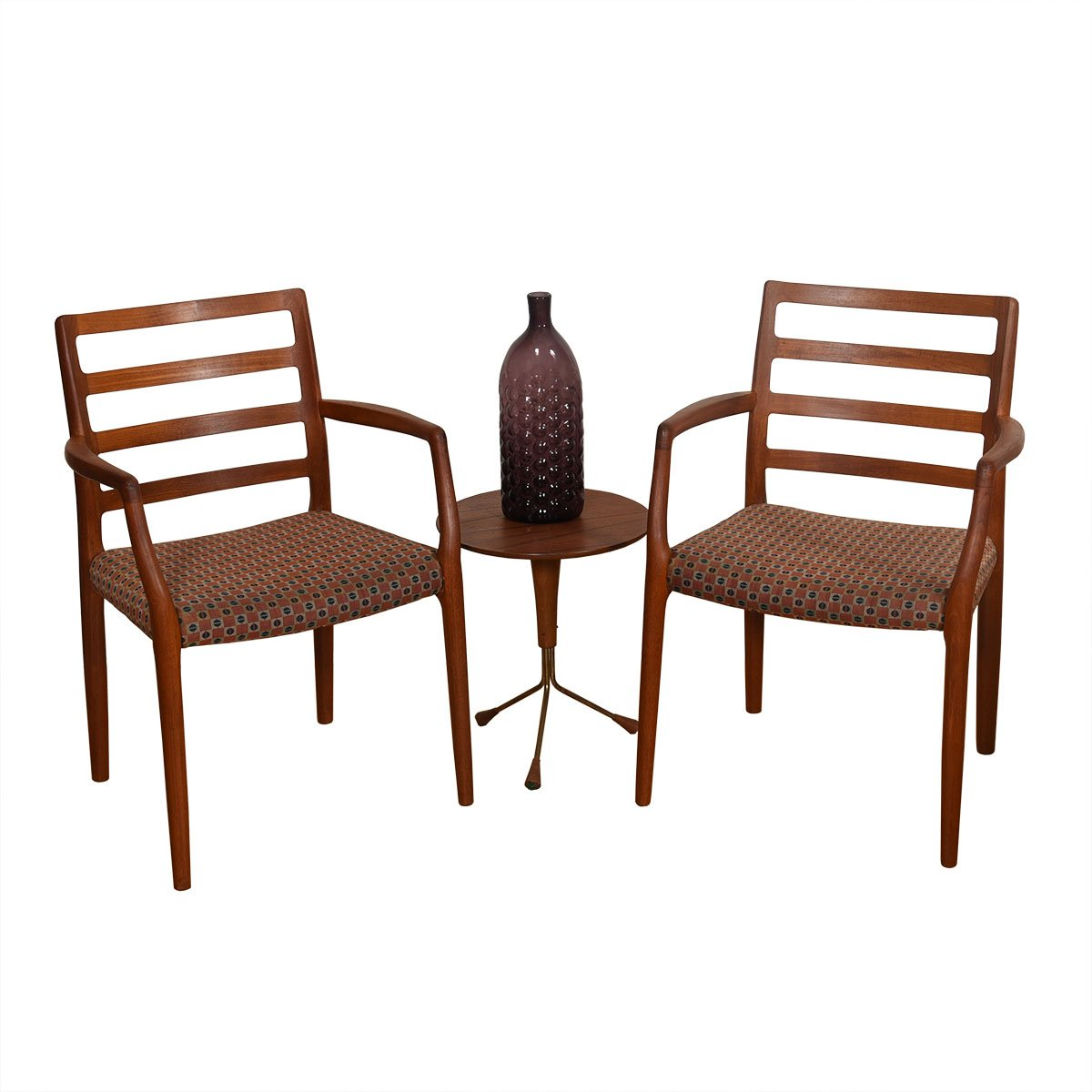Pair of Danish Teak Niels Møller No. 68 Arm Chairs