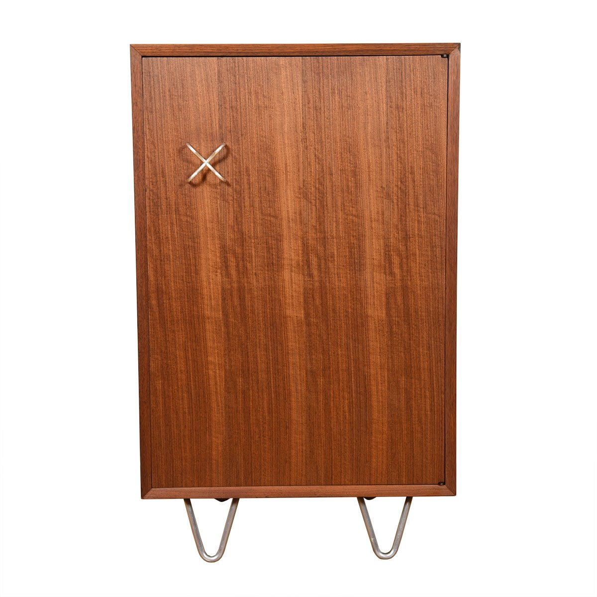 Herman Miller Walnut Bar / Storage Cabinet with Hairpin Legs