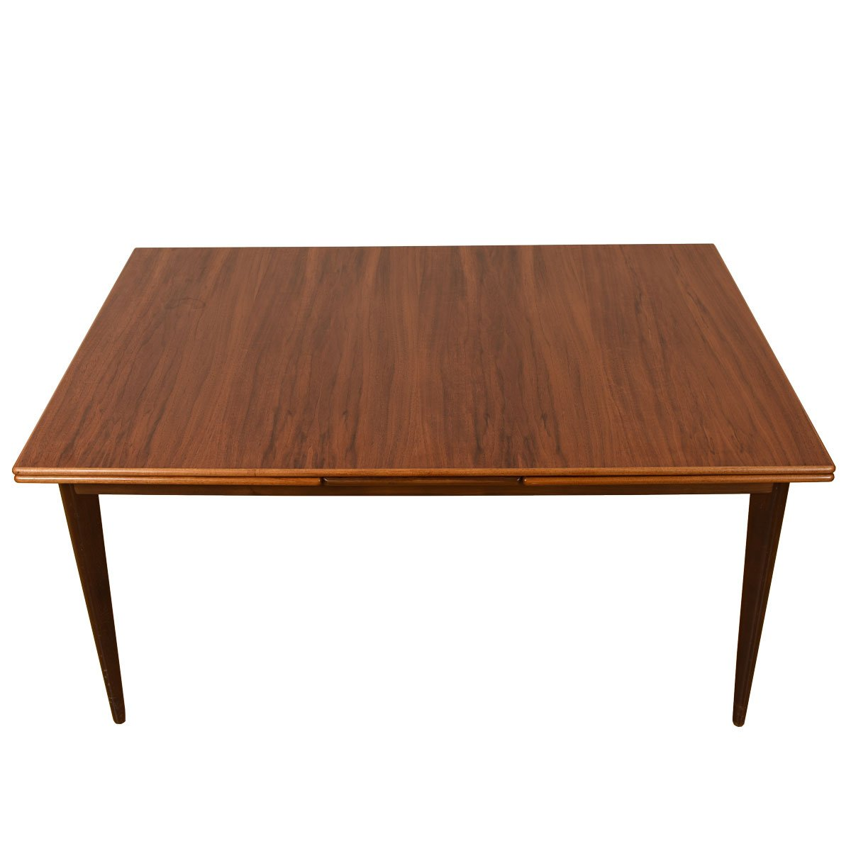 Swedish Modernist Expanding Walnut Dining Table by Dux