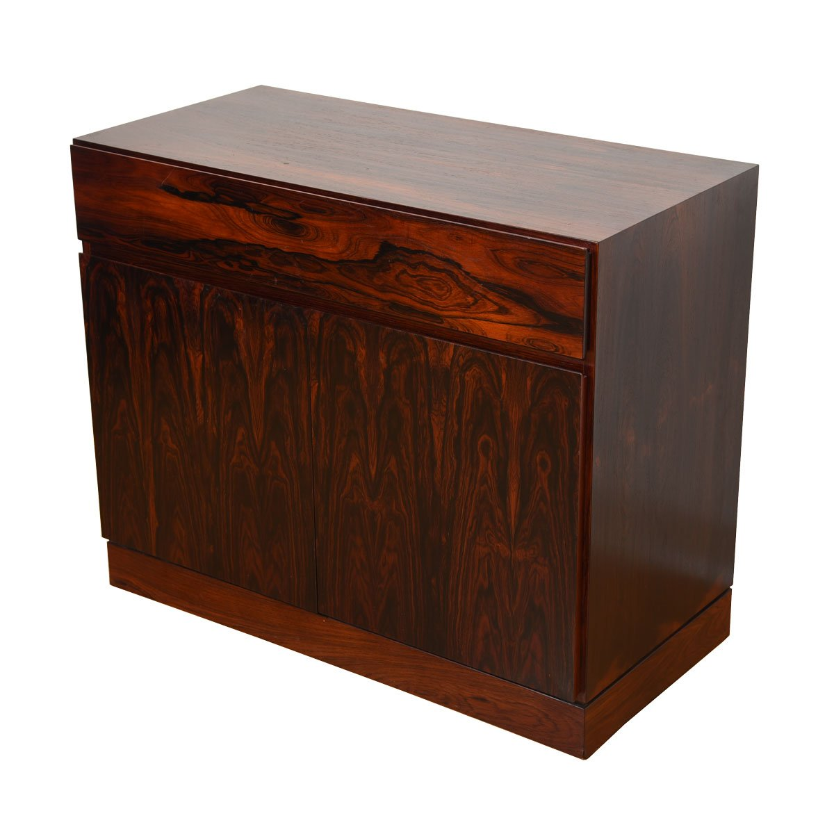 Compact Danish Rosewood Chest / Storage Cabinet / Bar