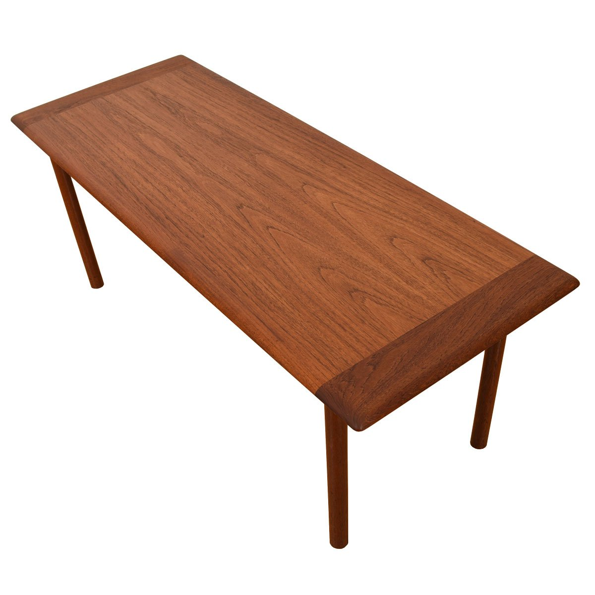 2-Tone Danish Teak Coffee Table w/ Edge Band Figuring