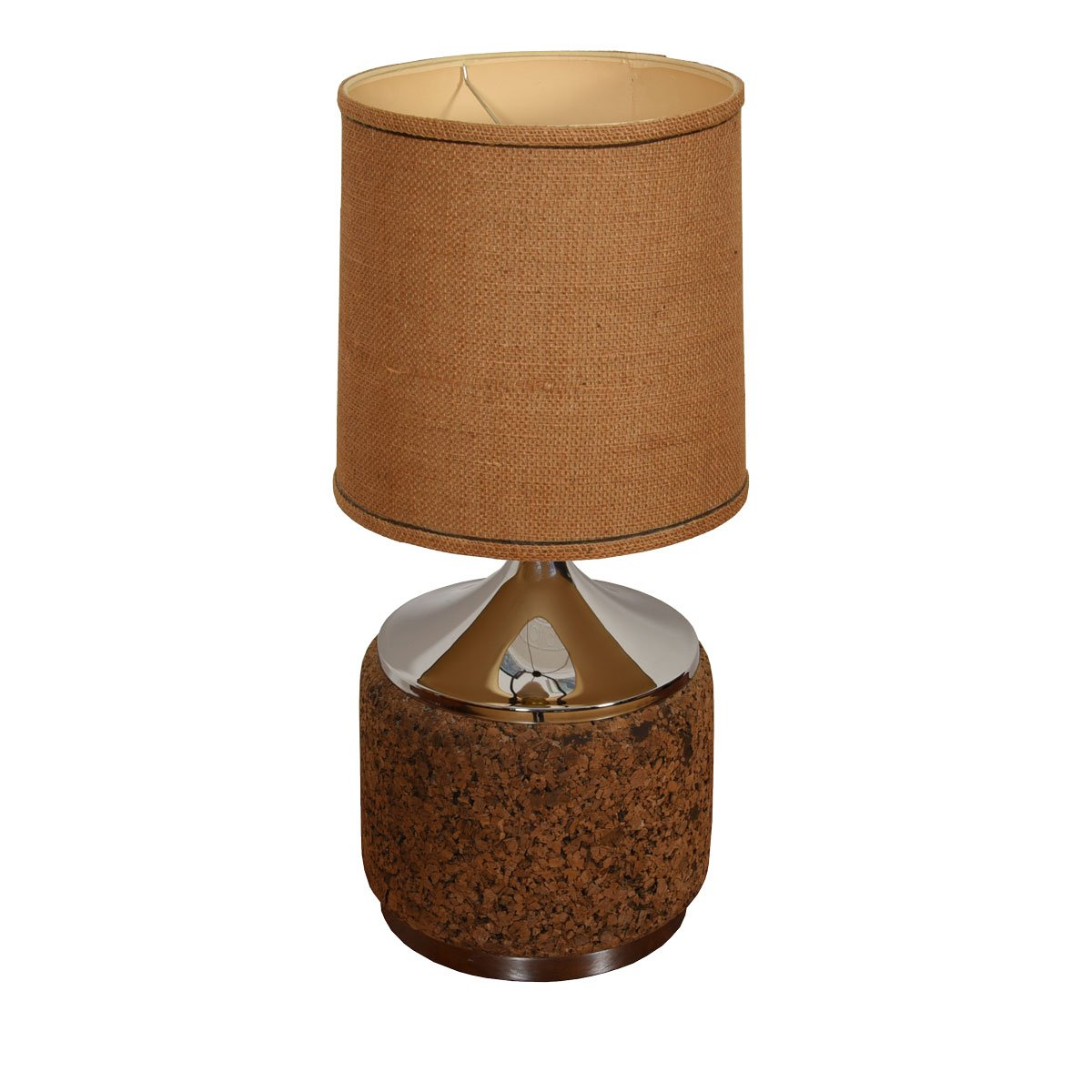 Pair of Cork and Chrome Lamps
