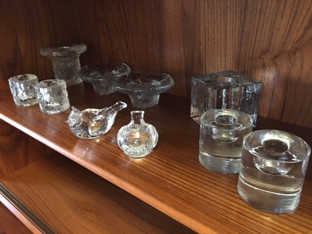 A Variety of MCM Candleholders — Glass, Crystal, Wood — A Variety!