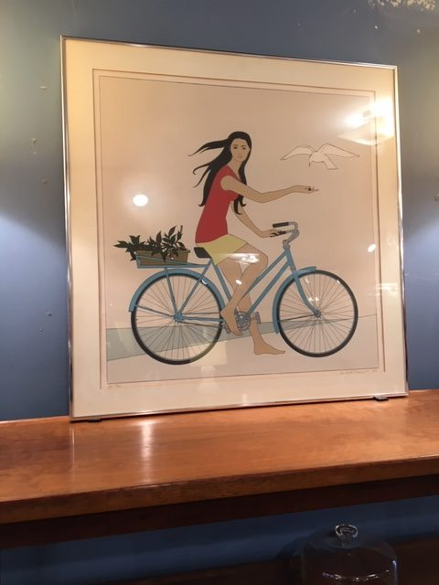 Girl on Bicycle by Will Barnet, Artist's Proof