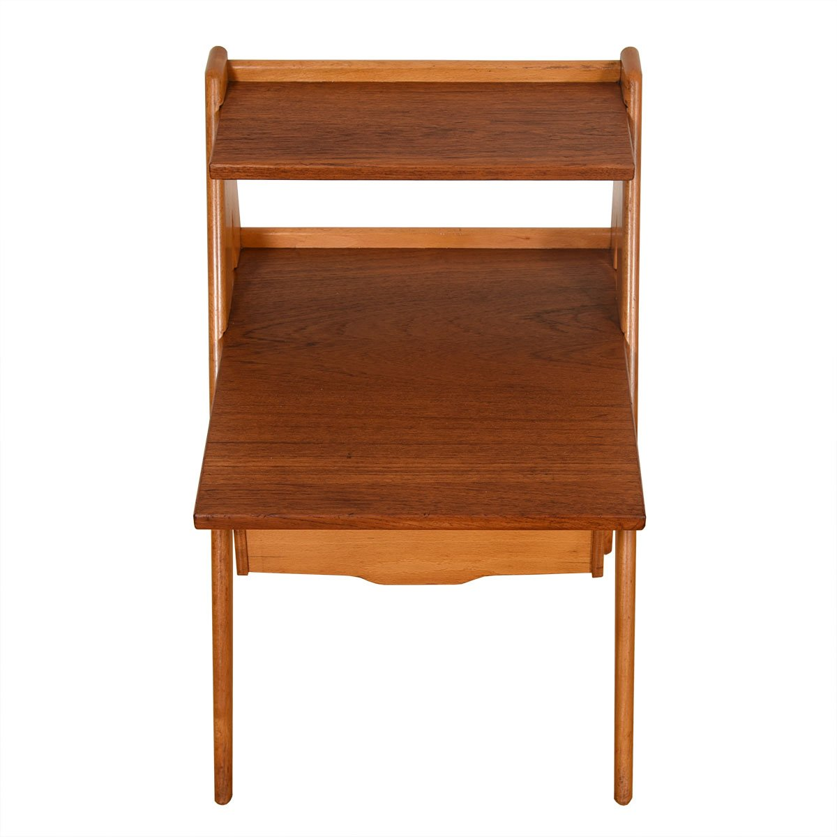MCM Bi-Level End Table with Hairpin Legs