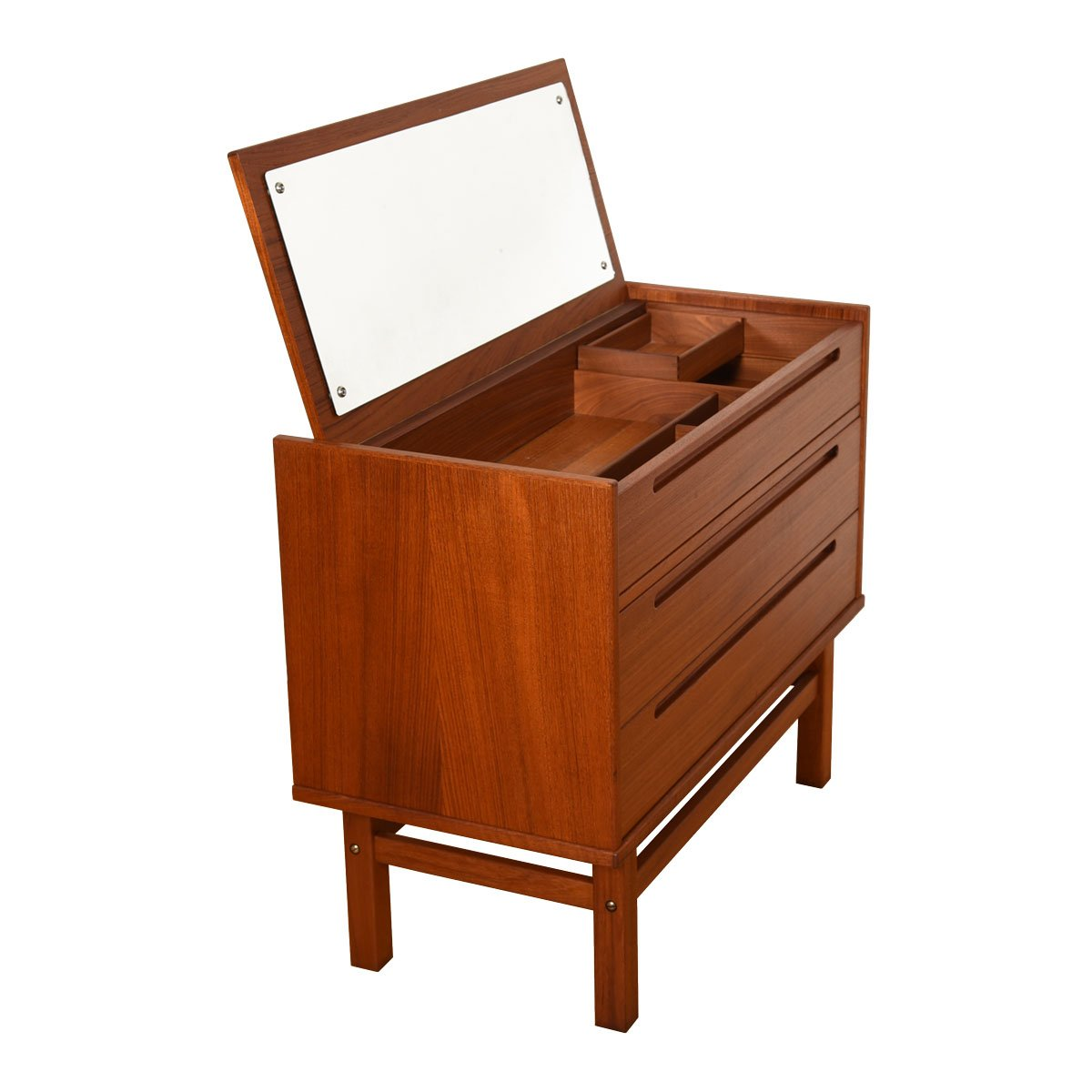 Danish Modern Teak Chest / Vanity by Torring