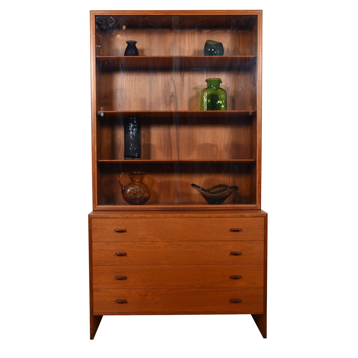 Hans Wegner Danish Teak 2 Pc. Display / Storage Cabinet