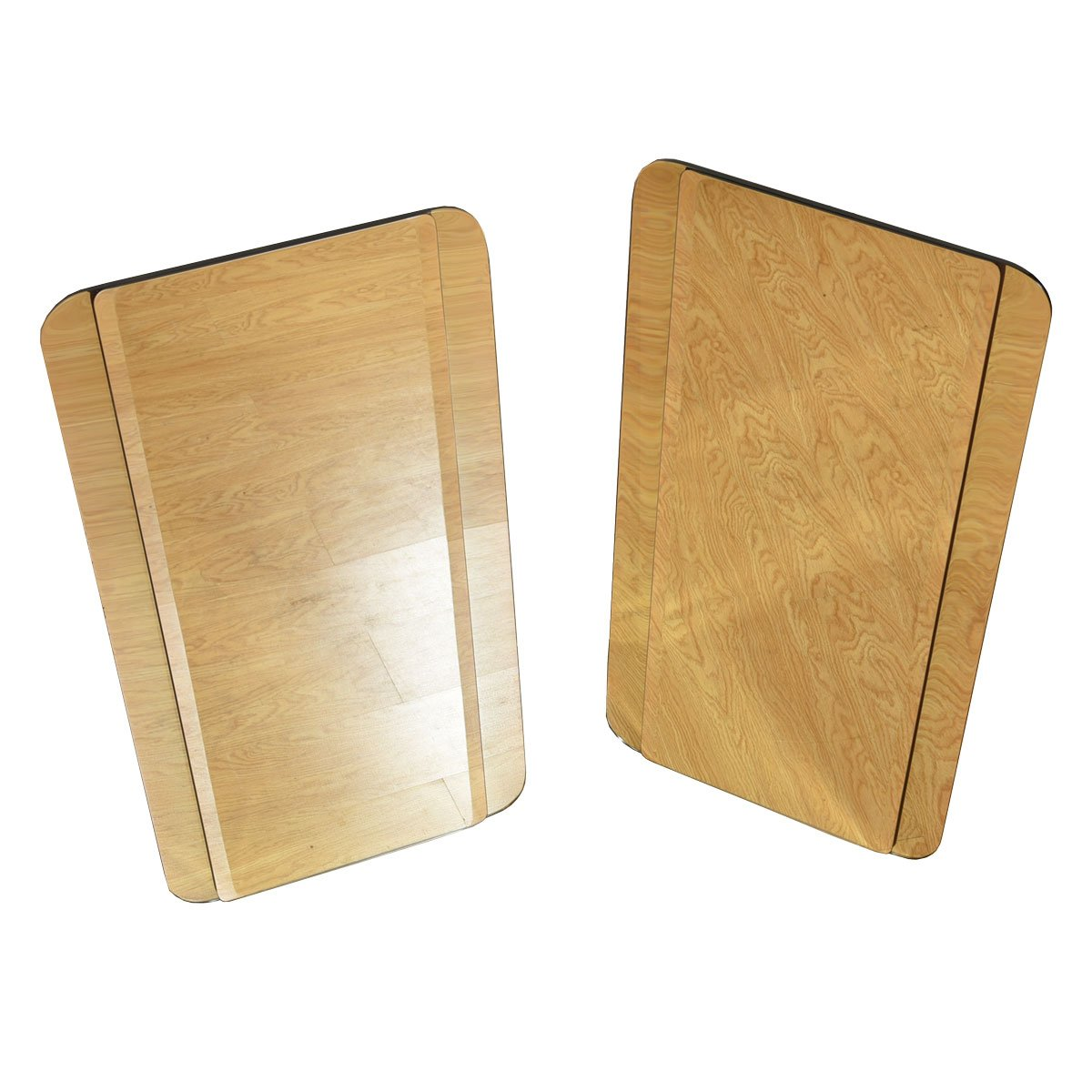 Pair of Large Mirrors with Rounded Corners