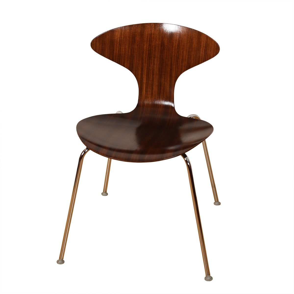 Mid Century Cherner Style Walnut Bentwood Accent Side Chair
