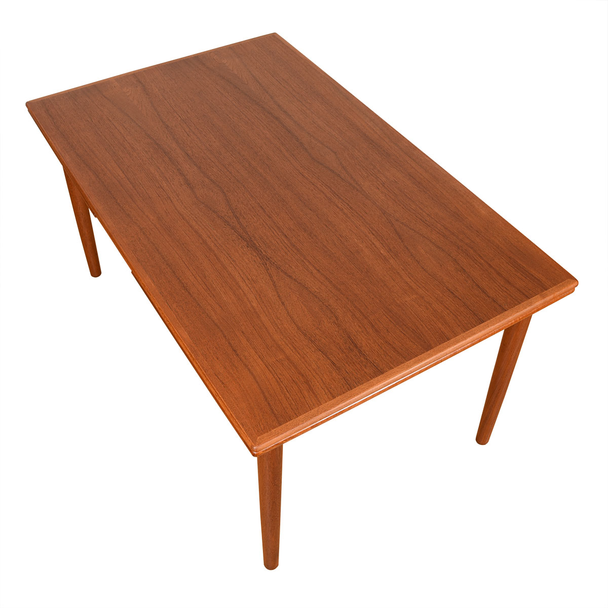 Danish Modern Teak Mid Sized Expanding Dining Table