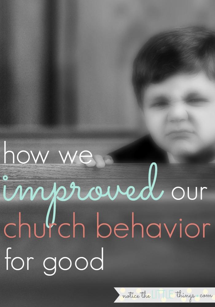 church behavior chart