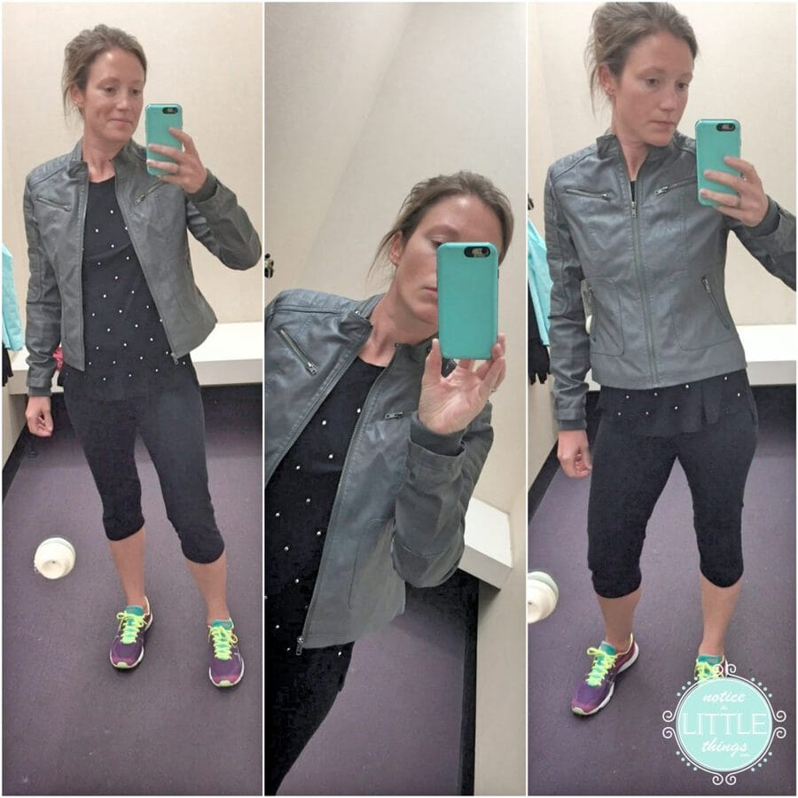 jacket selfie collage