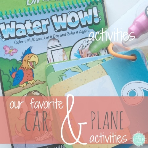 these are our favorite car and plane activities for traveling with kids.
