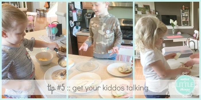 cooking kids talking collage