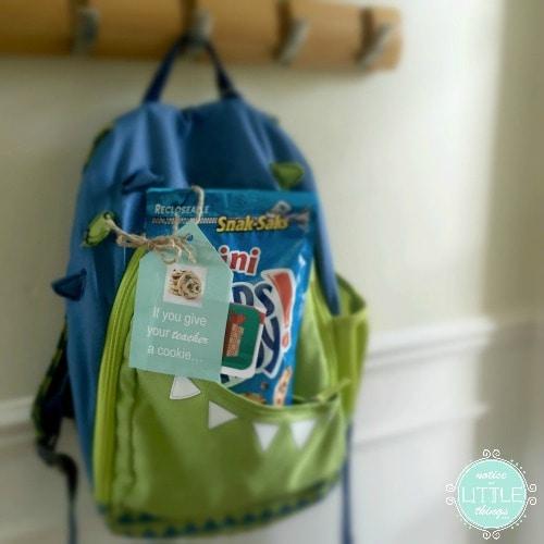 hanging backpack logo