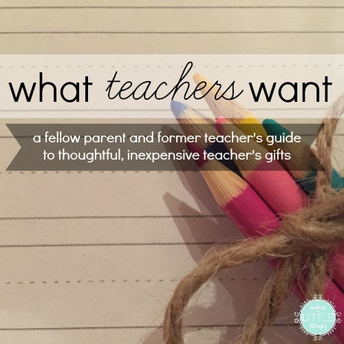 a gift giving guide for teacher gifts and teacher appreciation week