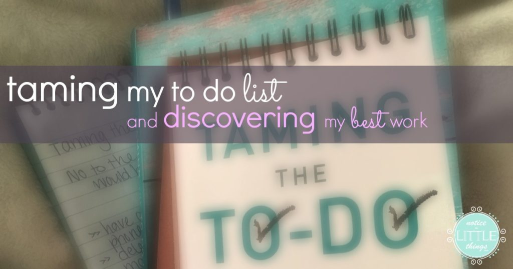 taming my to do list