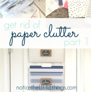 organized paper clutter