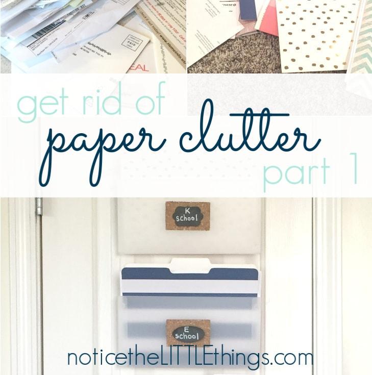 organized paper clutter