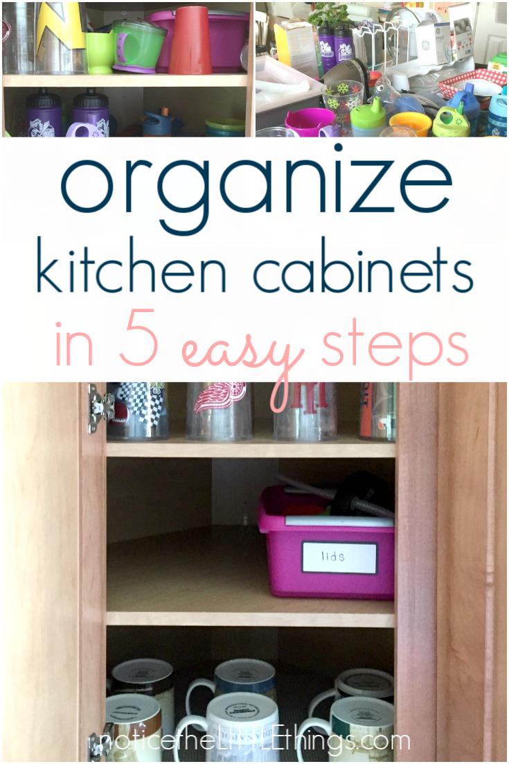 organized kitchen cabinets