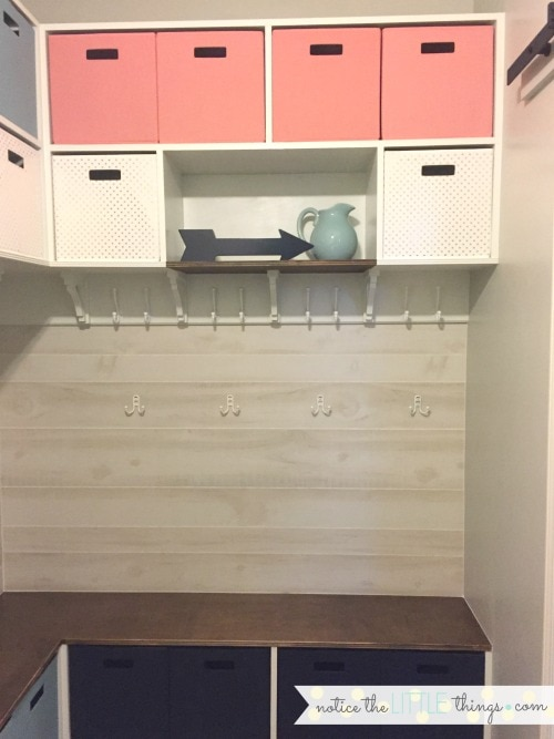 laundry room bench and built-ins