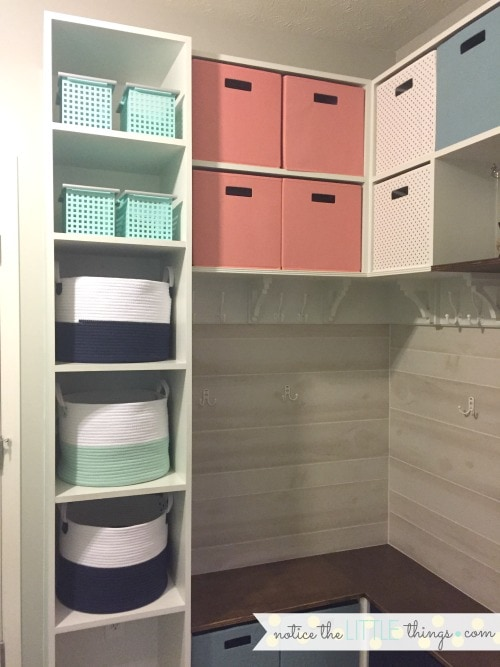 laundry room built-in organization