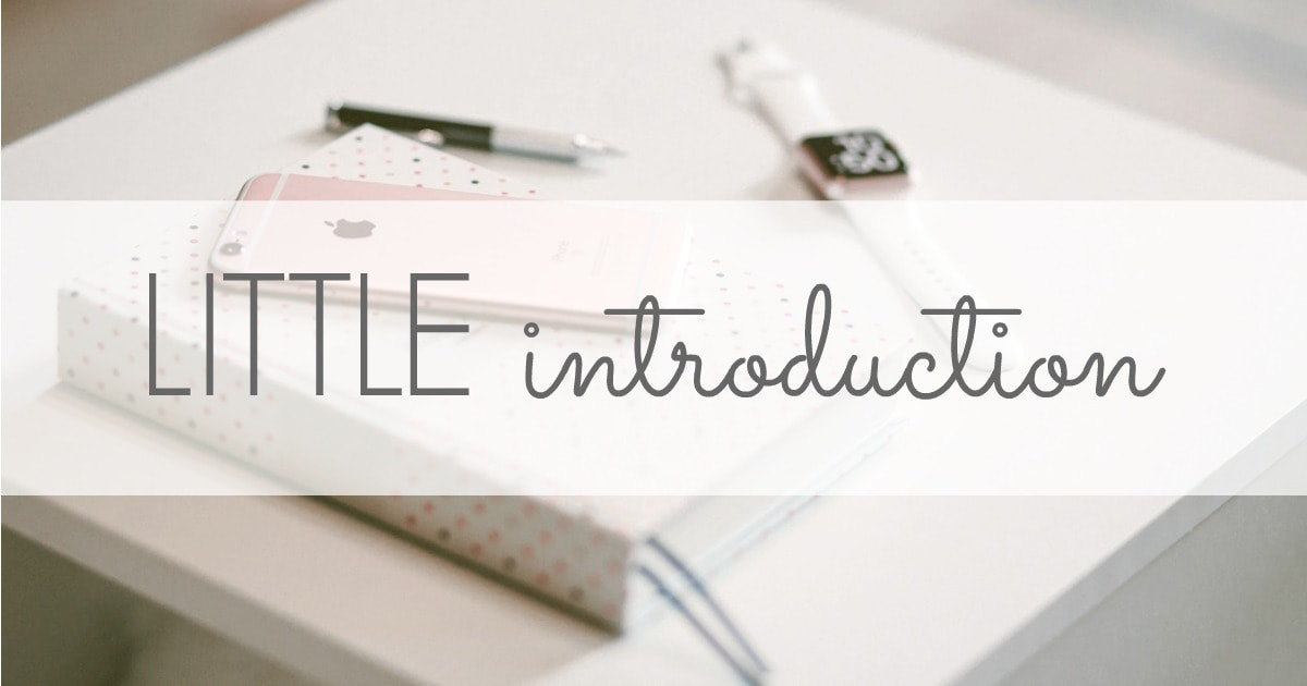 an introduction to notice the little things