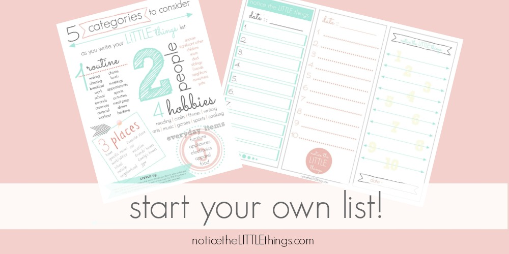 start your own list printable