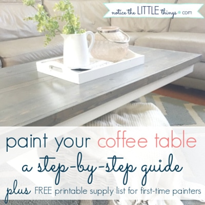 how to paint a coffee table