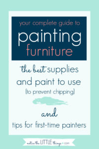 a complete guide to painting furniture