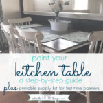 how to paint your kitchen table