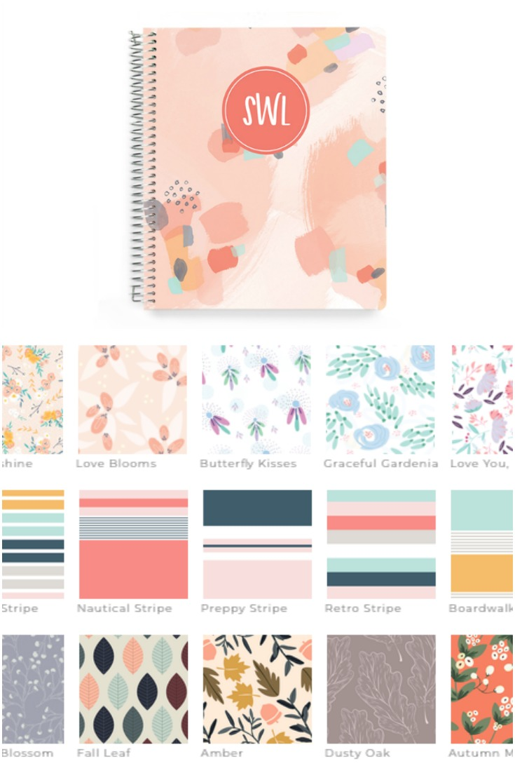 plum paper notebook and cover design options