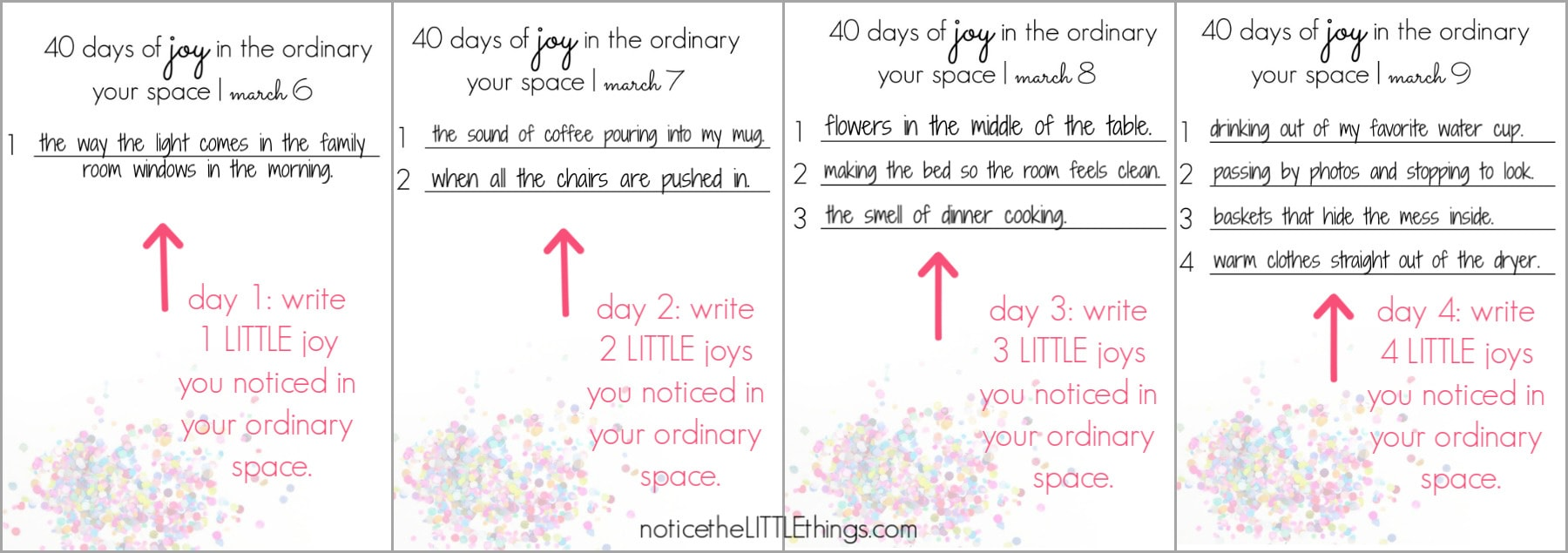 40 days of joy in the ordinary