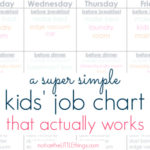 a super simple kid's job chart that actually works