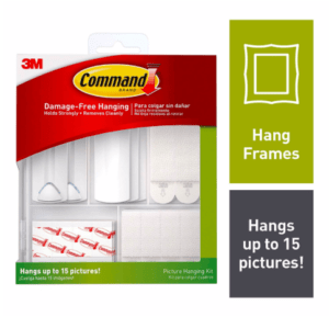 how to hang pictures with command strips