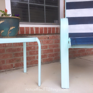spray painted table and chairs
