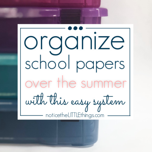 organized school papers