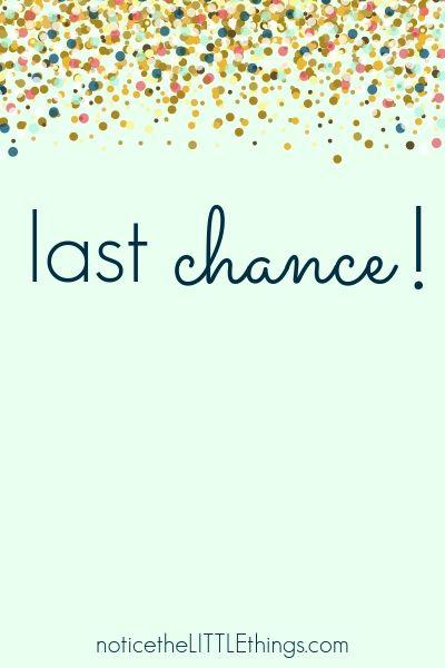 last chance for reclaim your joy ebook
