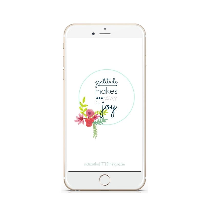 gratitude phone lock screen