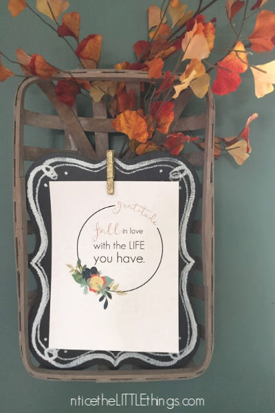 fall decor printables