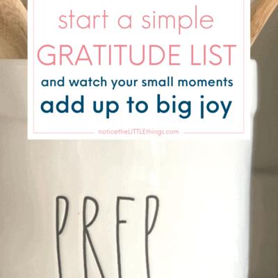 practice daily gratitude