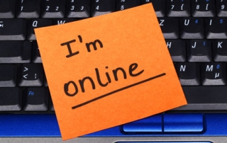 I'm online note on a keyboard.
