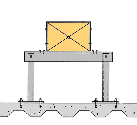 Roof Duct Support