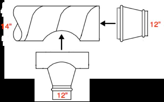 saddletap and reducer