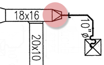 square to round example